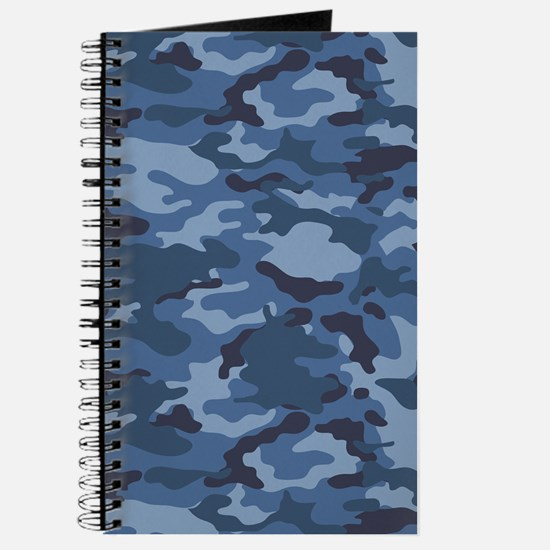 Blue Camo Pattern Journal