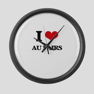 I love Au Pairs Large Wall Clock