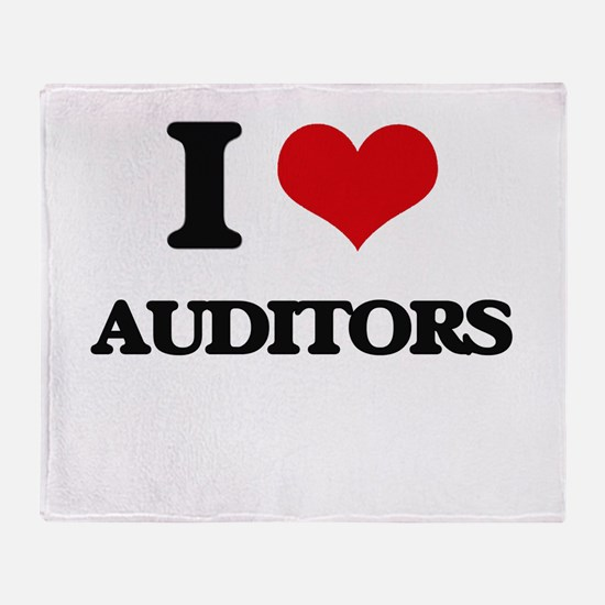 I love Auditors Throw Blanket
