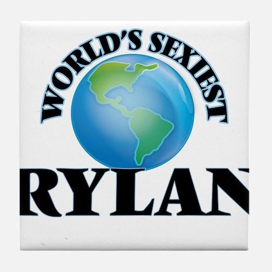 World's Sexiest Rylan Tile Coaster