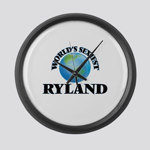 World's Sexiest Ryland Large Wall Clock
