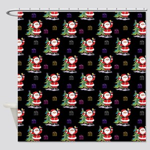 Santa Clause Christmas Shower Curtain