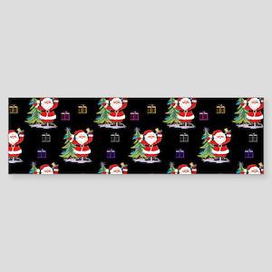 Santa Clause Christmas Bumper Sticker