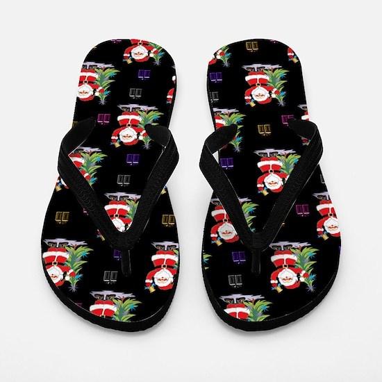 Santa Clause Christmas Flip Flops