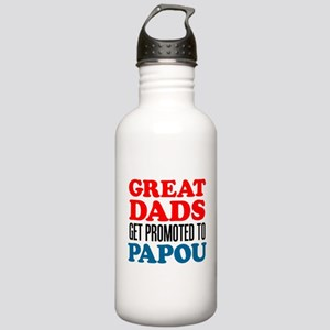 Dads Promoted To Papou Stainless Water Bottle 1.0L