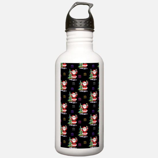 Santa Clause Christmas Water Bottle