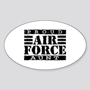 Proud Air Force Aunt Oval Sticker