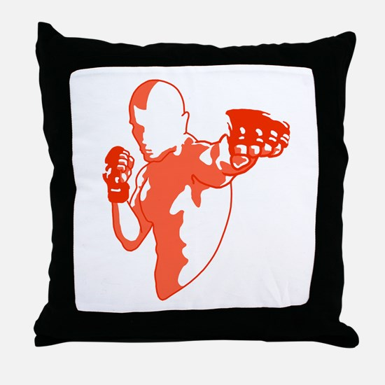 Punch red Throw Pillow