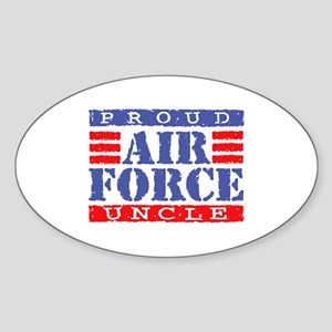 Proud Air Force Uncle Oval Sticker