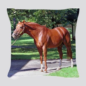 "SECRETARIAT - ""Big Red"" Woven Throw Pillow"