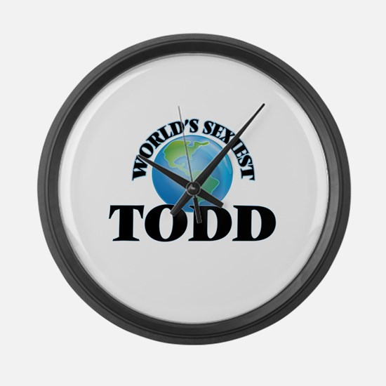 World's Sexiest Todd Large Wall Clock