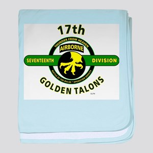17th Airborne Division Golden Talons baby blanket