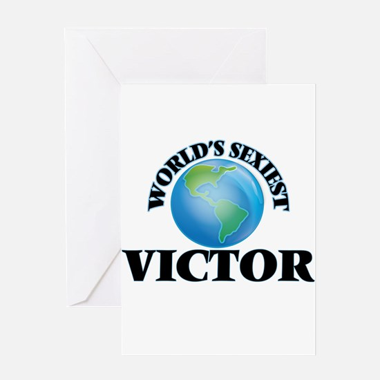 World's Sexiest Victor Greeting Cards