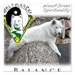 WMC Balance Front Square Car Magnet 3