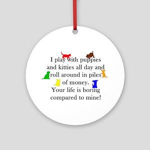 Veterinary Puppies and Kitties Round Ornament