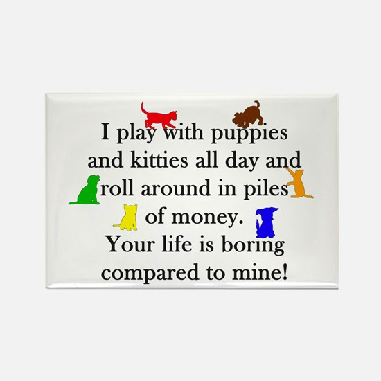 Veterinary Puppies and Kitties Magnets