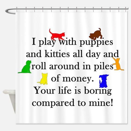 Veterinary Puppies and Kitties Shower Curtain