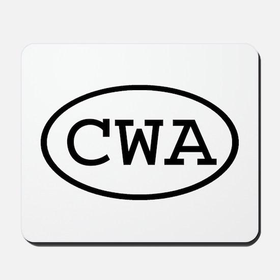 CWA Oval Mousepad