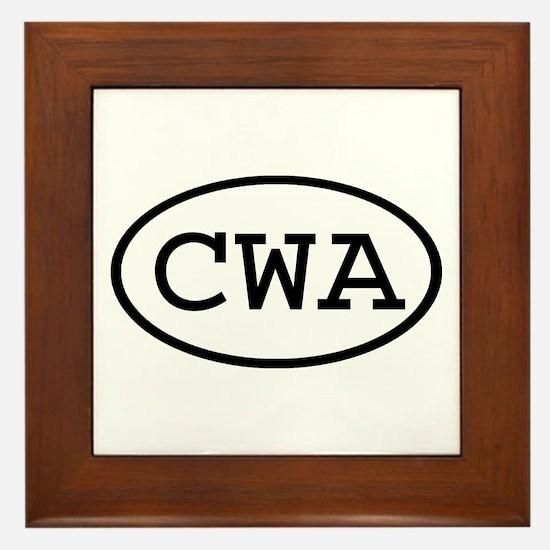 CWA Oval Framed Tile