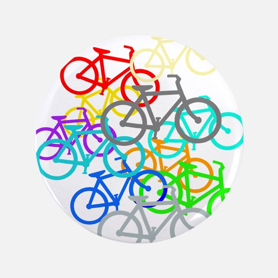 "Bicycles 3.5"" Button (100 pack)"