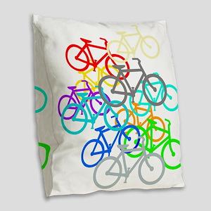 Bicycles Burlap Throw Pillow