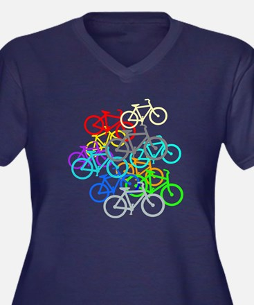 Bicycles Plus Size T-Shirt
