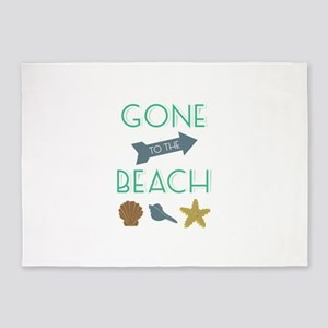 Gone To Beach 5'x7'Area Rug