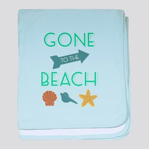Gone To Beach baby blanket