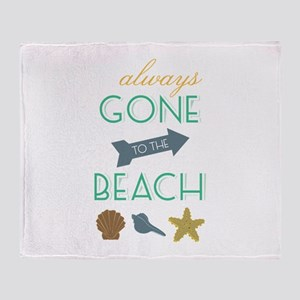 To The Beach Throw Blanket