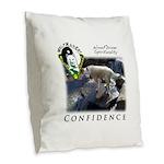 WMC Confidence Front Burlap Throw Pillow