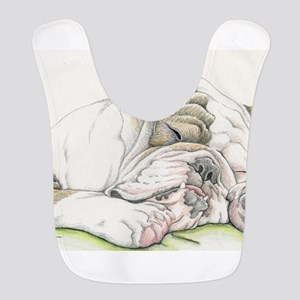 Sleepy English Bulldog Bib
