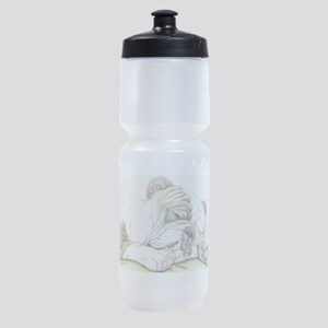 Sleepy English Bulldog Sports Bottle