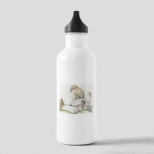 Sleepy English Bulldog Water Bottle