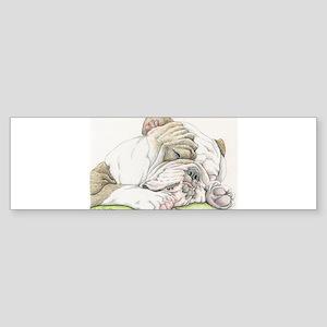 Sleepy English Bulldog Bumper Sticker