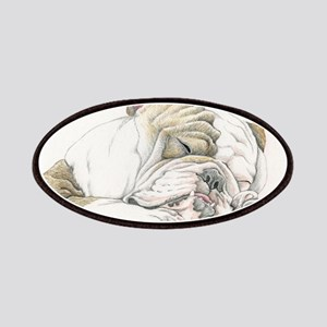Sleepy English Bulldog Patches
