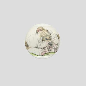 Sleepy English Bulldog Mini Button