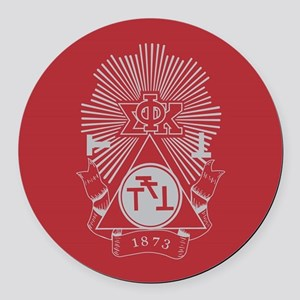 Phi Sigma Kappa Crest Round Car Magnet