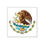 """Mexican Coat Of Arms Square Sticker 3"""" X 3&am"""