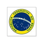 "Seal Of Brazil Square Sticker 3"" X 3"""