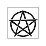 "Basic Pentagram Square Sticker 3"" X 3"""