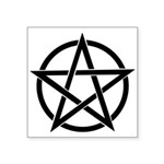 "Basic Pentagram Square Sticker 3"" X 3"""