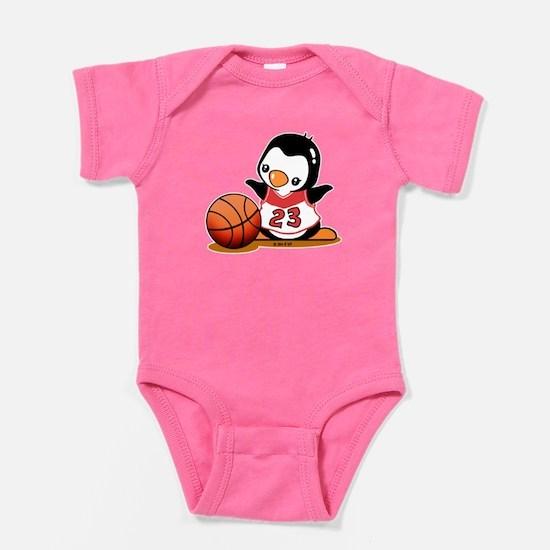 Basketball Penguin Baby Bodysuit