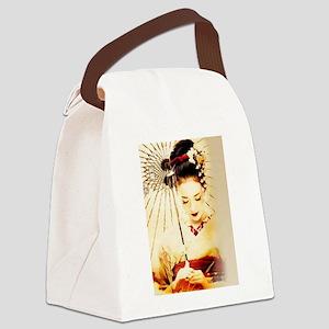 geisha girl Canvas Lunch Bag