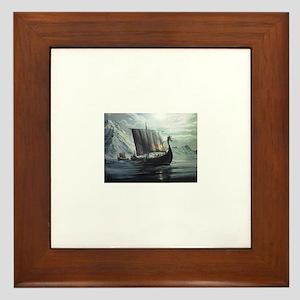 viking ship Framed Tile