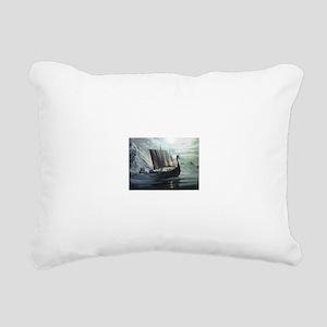 viking ship Rectangular Canvas Pillow