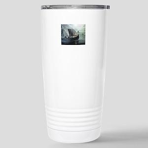 viking ship Stainless Steel Travel Mug