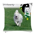 WMC Happiness Front Woven Throw Pillow