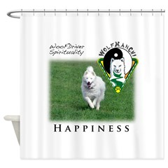 WMC Happiness Front Shower Curtain