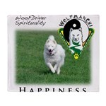 WMC Happiness Front Throw Blanket