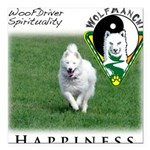 WMC Happiness Front Square Car Magnet 3